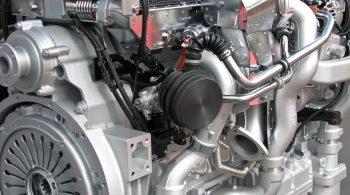 Truck diesel powered engine.