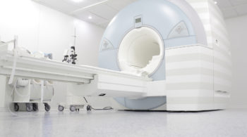 MRI machine is ready to research in a hospital room